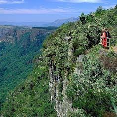 God's Window viewsite on the Mpumalanga escarpment, part of the scenic Panorama Route.