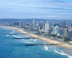Durban's main beachfront, also known as the Golden Mile.
