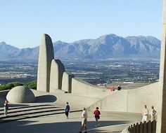 The Afrikaans Language Monument on Paarl Mountain in the Cape Winelands.