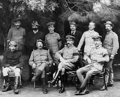 Boer and British participants in the Middleburg peace conference (1901), during the Second Anglo-Boer War