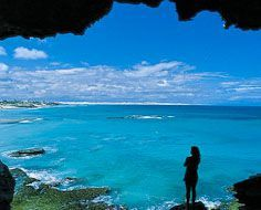 View from an Arniston coastal cave