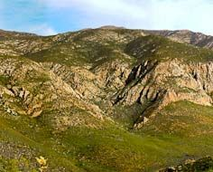 Typical mountainous scenery in the Baviaanskloof.