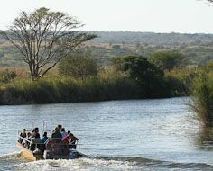 A game and bird-watching cruise at Bonamanzi Game Reserve