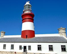 The Cape Agulhas LIghthouse, the southermost lighthouse in Africa,before major renovations in 2013.