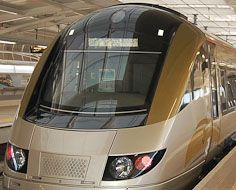 Gautrain trainset at O.R. Tambo International Airport Station
