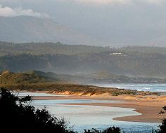 Part of the Keurbooms River, near to the river mouth at Plettenberg Bay.