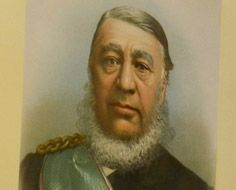 A portrait of President Paul Kruger at his former residence, Kruger House in Pretoria.