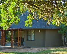 A guest rondavel in Pretoriuskop Rest Camp in South Africa's Kruger National Park.