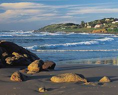 A section of the Leisure Bay coastine on KwaZulu-Natal's popular South Coast - South Africa.