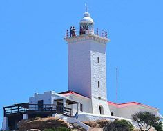 The St. Blaize Lighthouse above The Point in Mossel Bay on South Africa's Garden Route.