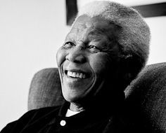 Nelson Mandela, the first president of a fully democratic South Africa and Nobel Peace Prize Laureate.