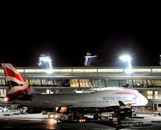 A British Airways plane on the tarmac at O.R. Tambo International Airport