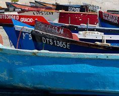 Fishing boats at Paternoster