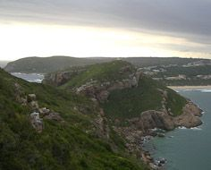 The view back towards Robberg Beach and Plettenberg Bay from the hiking trail on the Robberg Peninsula.