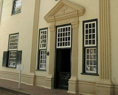 Grosvenor House, a typical Cape-Dutch styled, historical building in Stellenbosch.