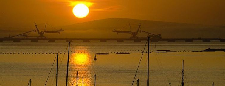 Sunset over Saldanha Bay Harbour